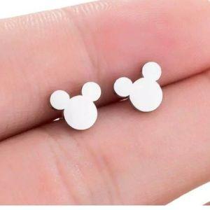 Silver Mickey Mouse Earrings